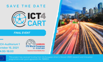 PRESS RELEASE: The Final Event of the ICT4CART project takes place at the ITS World Congress in Hamburg on 15th October 2021